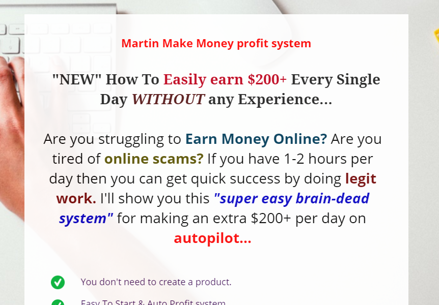 martin make money profit system