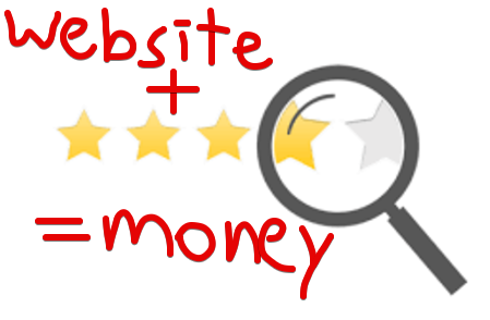 make money with a review site