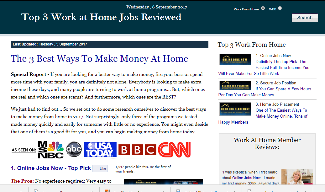 top jobs reviewed