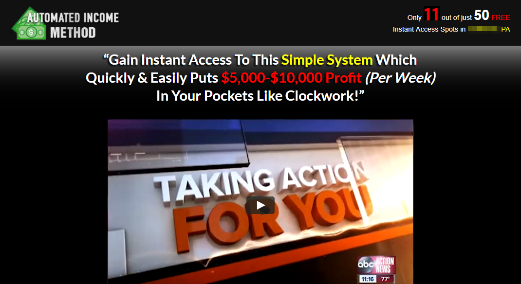 Automated Income Method
