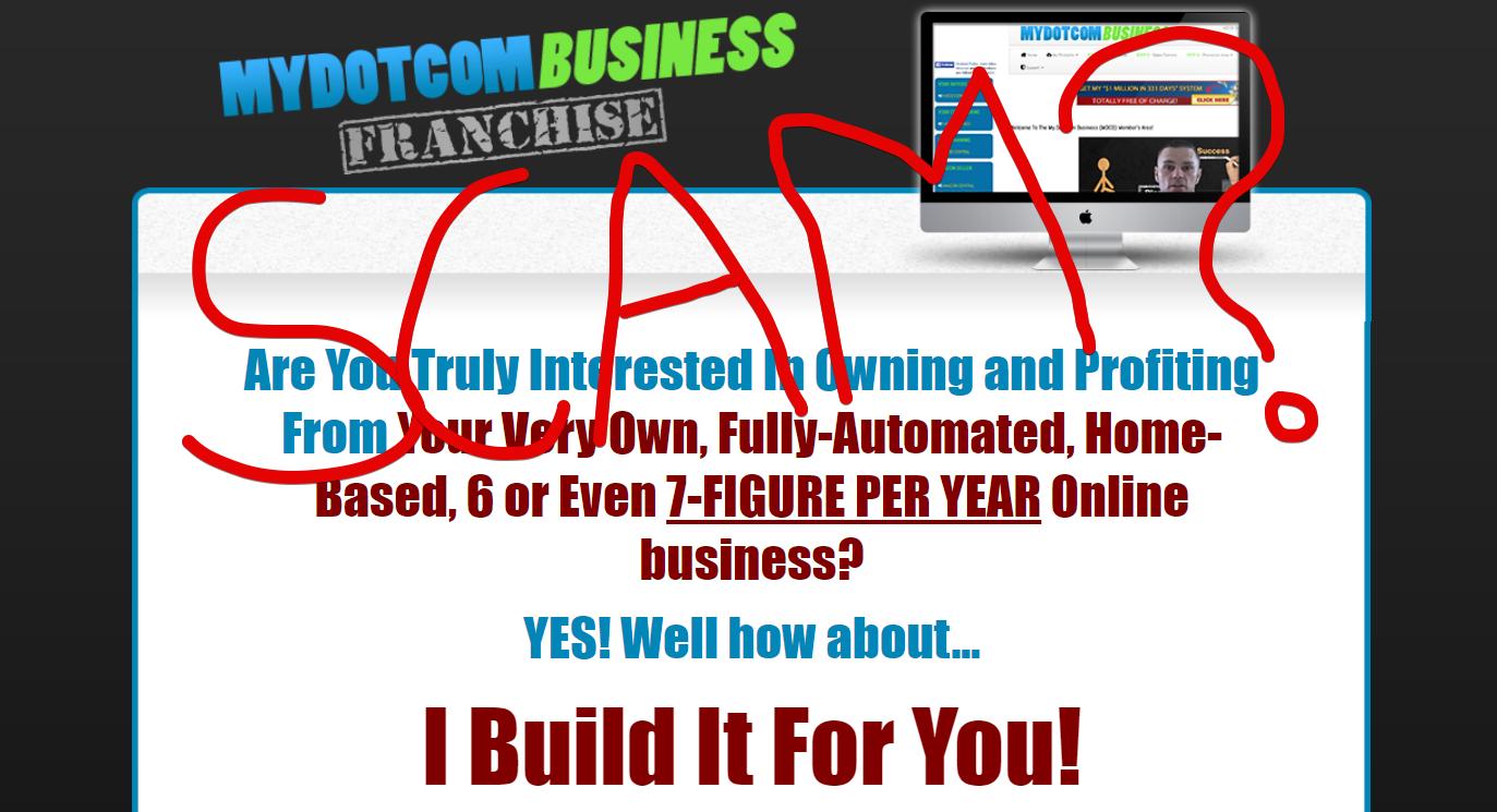 My Dot Com Business Franchise scam