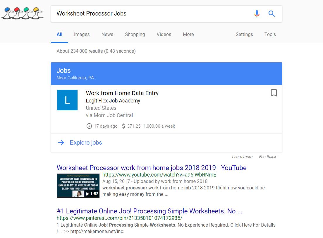 Worksheet Processor Jobs