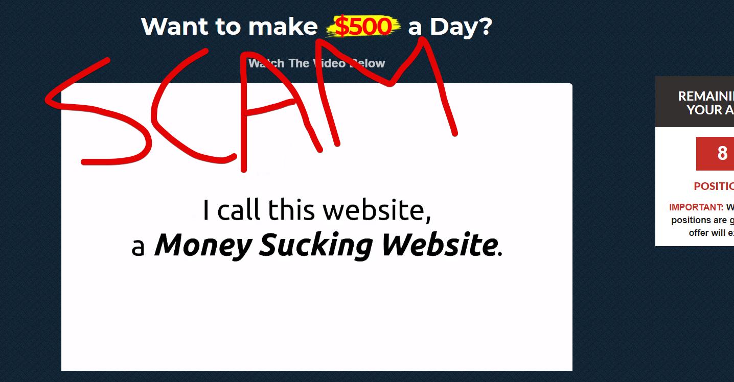 Money Sucking Websites