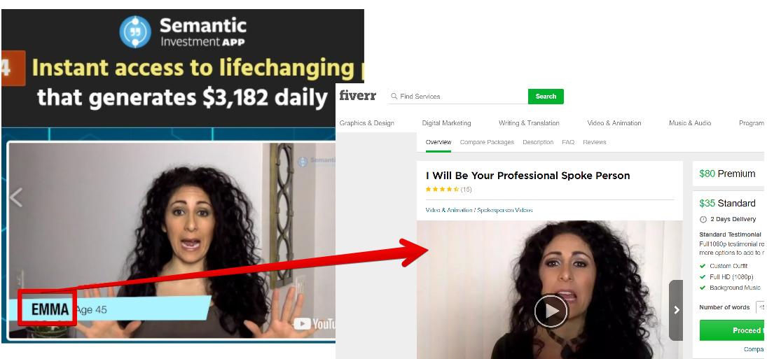 semantic investment app scam