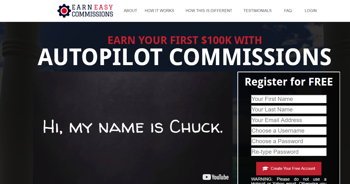 Earn Easy Commissions Scam