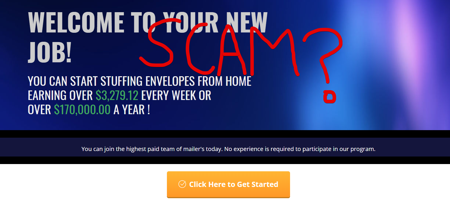 Envelope Work Scam – Yes Its a Scam | Kyle's Blog
