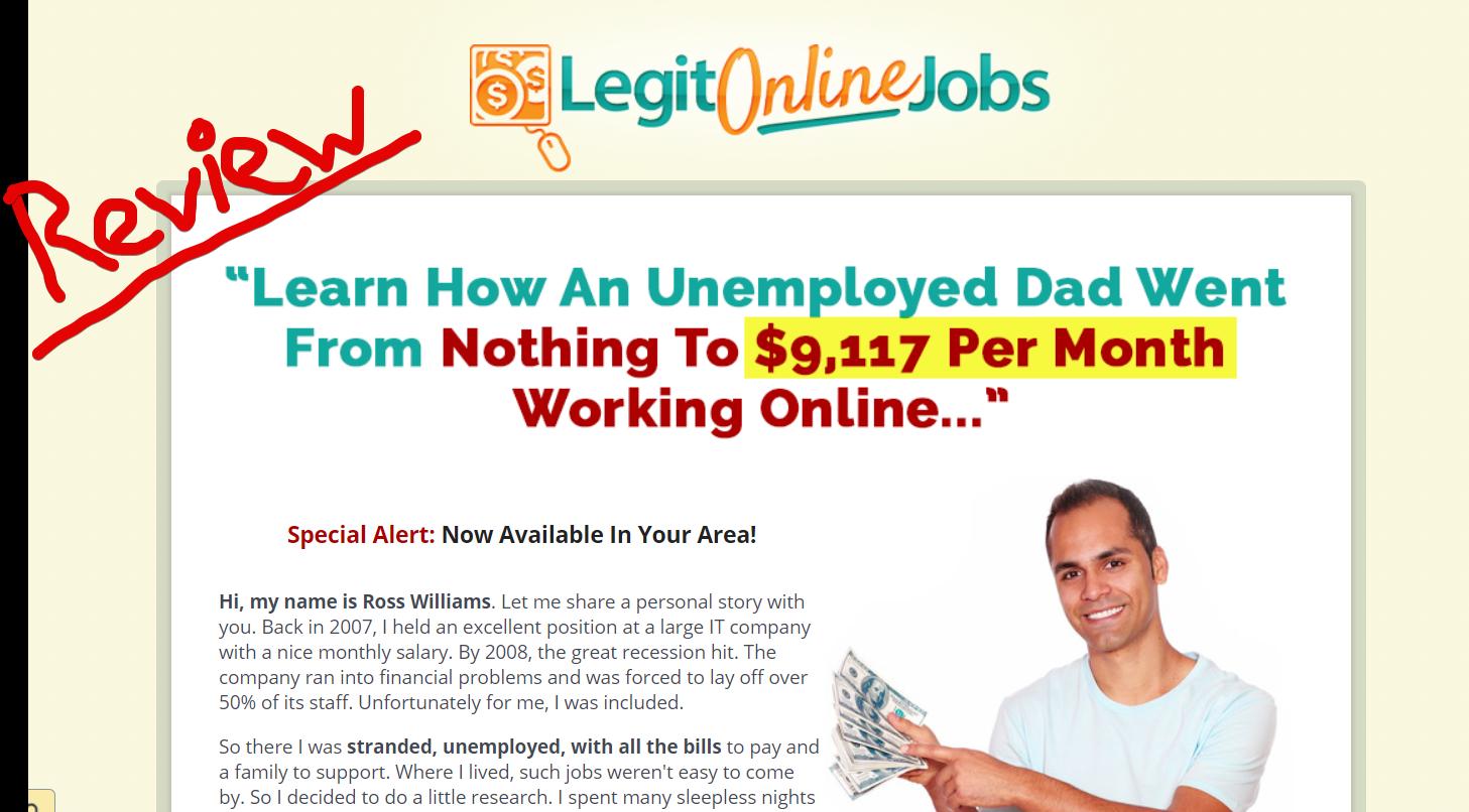 Legit Online Jobs scam