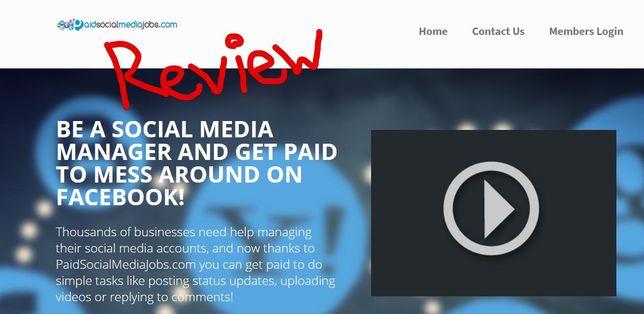 PaidSocialMediaJobs Scam