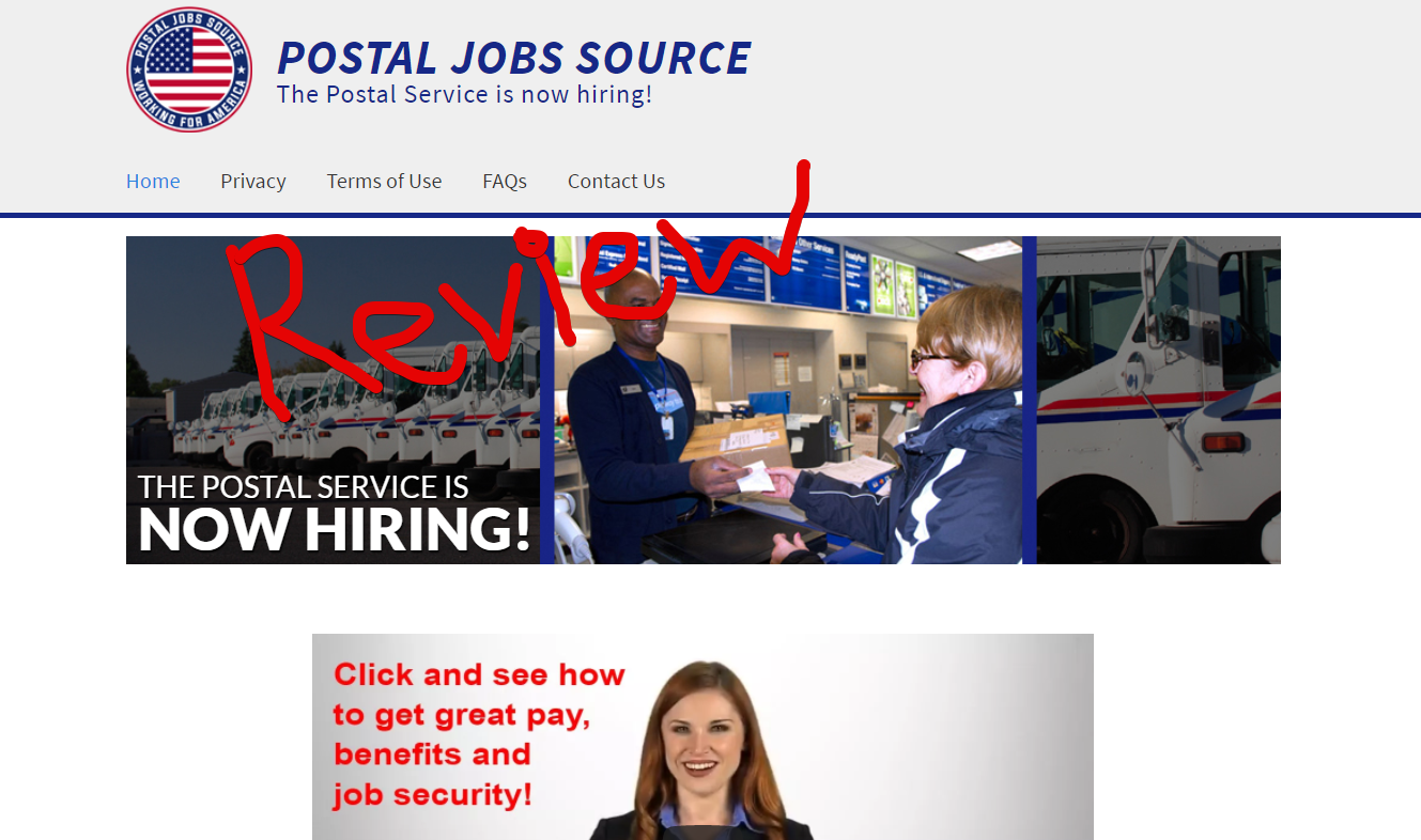 Postal Jobs Source scam