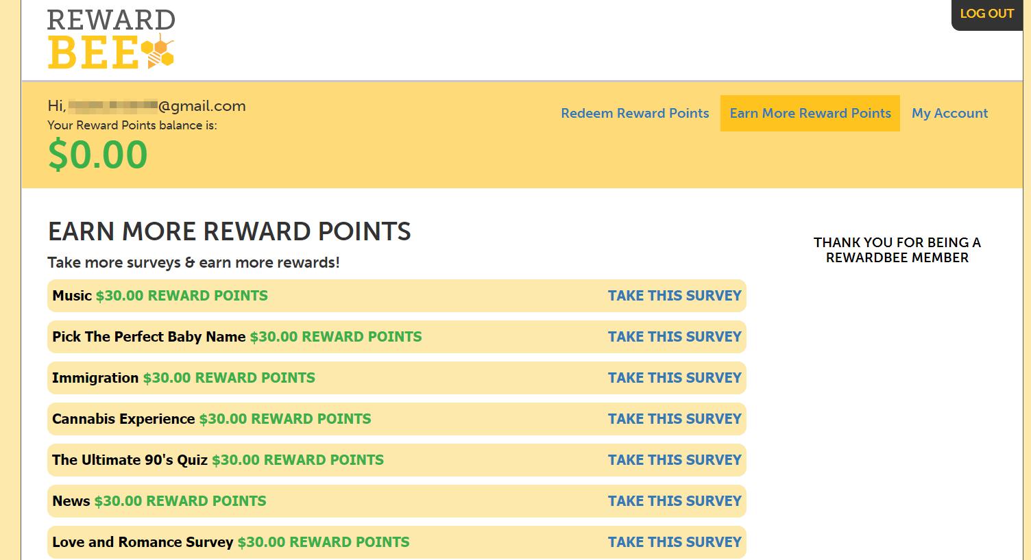 Rewardbee com reviews