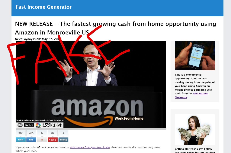 Fast Income Generator Scam