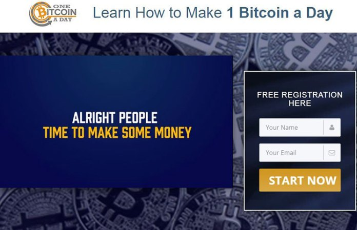 One Bitcoin a Day Scam
