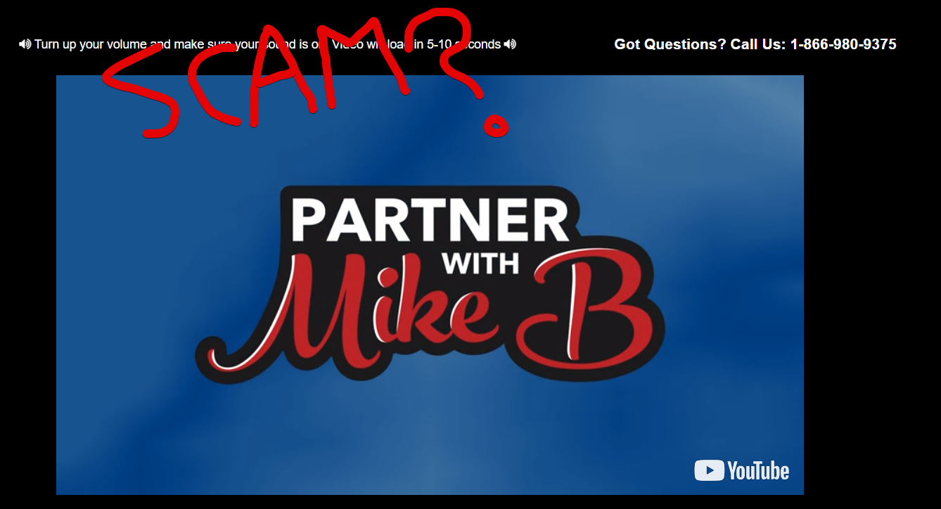 Partner With Mike B Scam