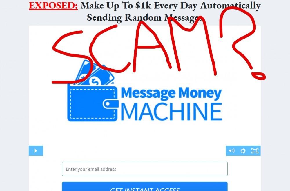 Money Message Machine Scam