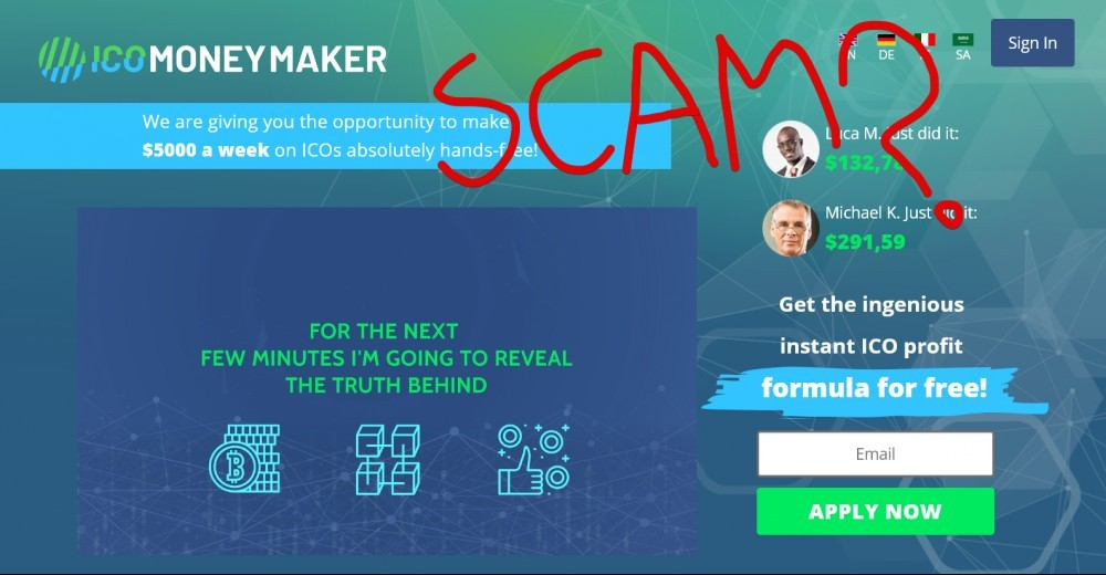 Ico Money Maker Scam