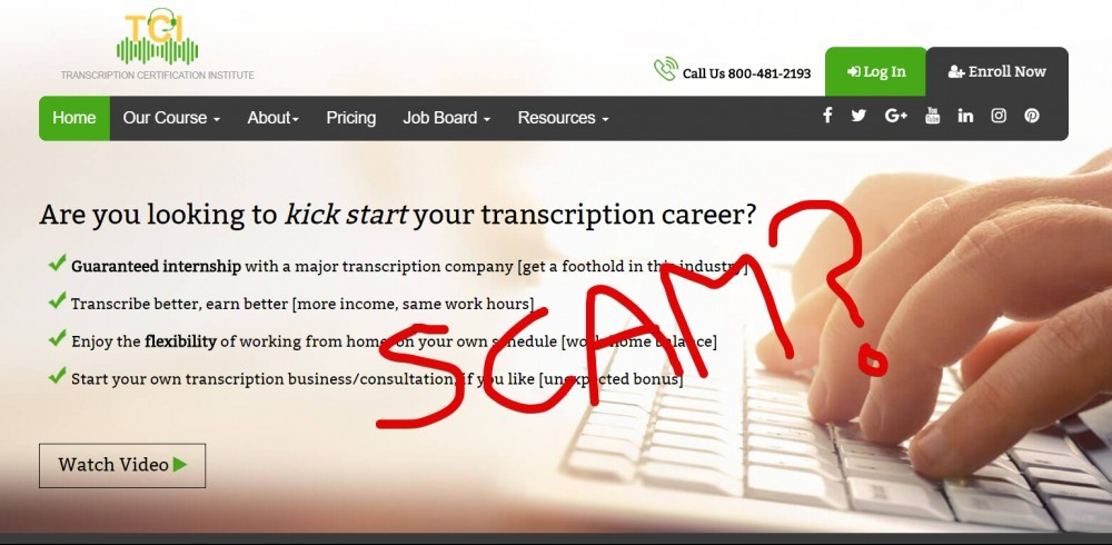 Is Transcription Certification Institute a Scam
