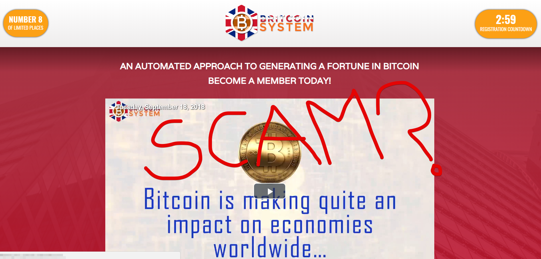 Britcoin System scam
