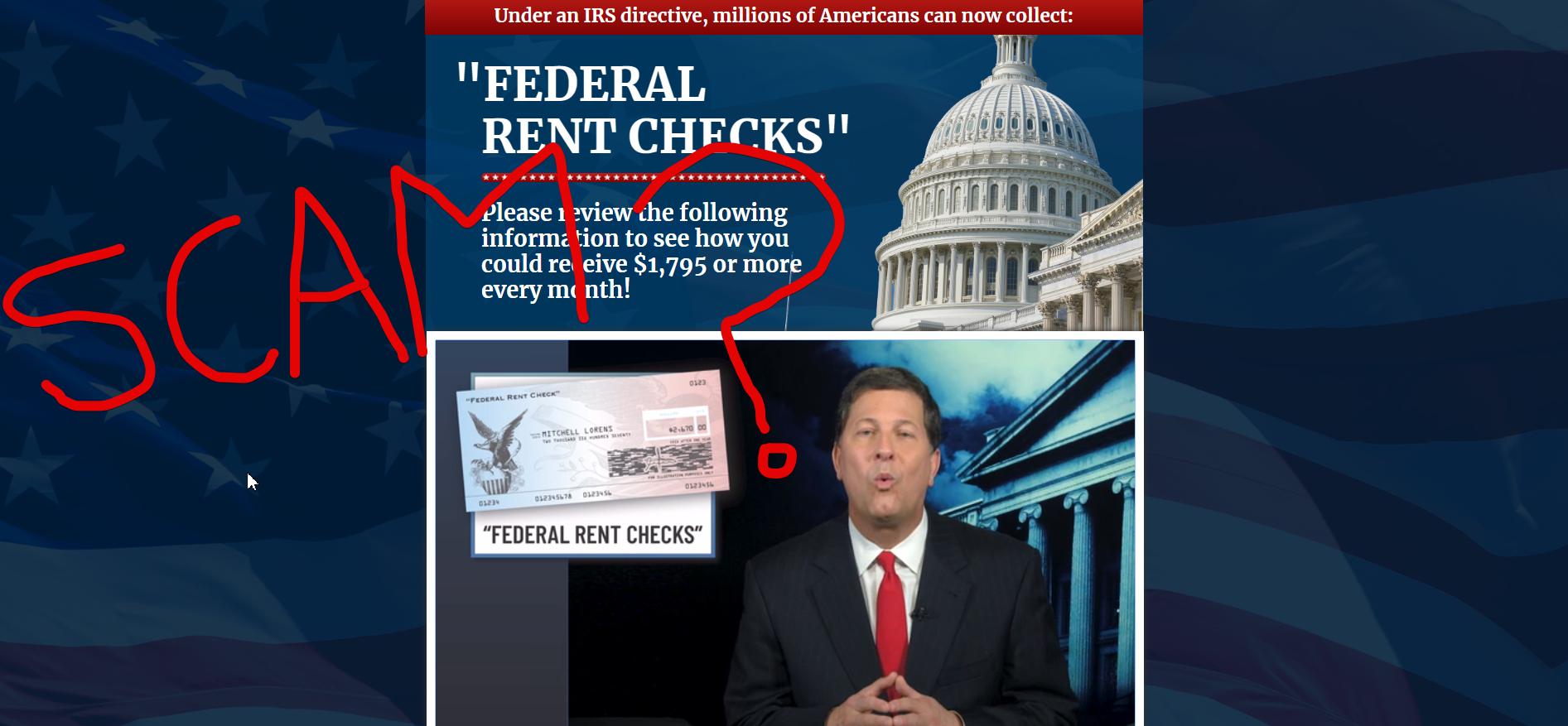 Federal Rent Checks Scam