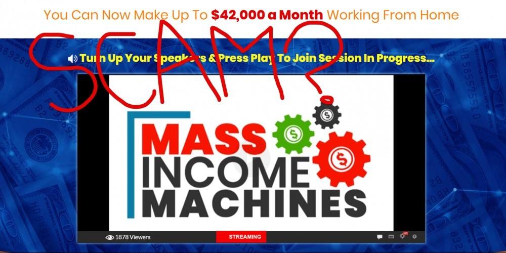 Mass Income Machines scam