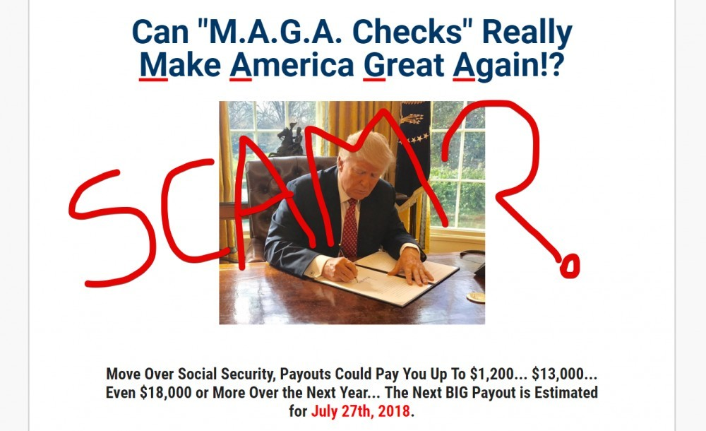 MAGA Checks scam
