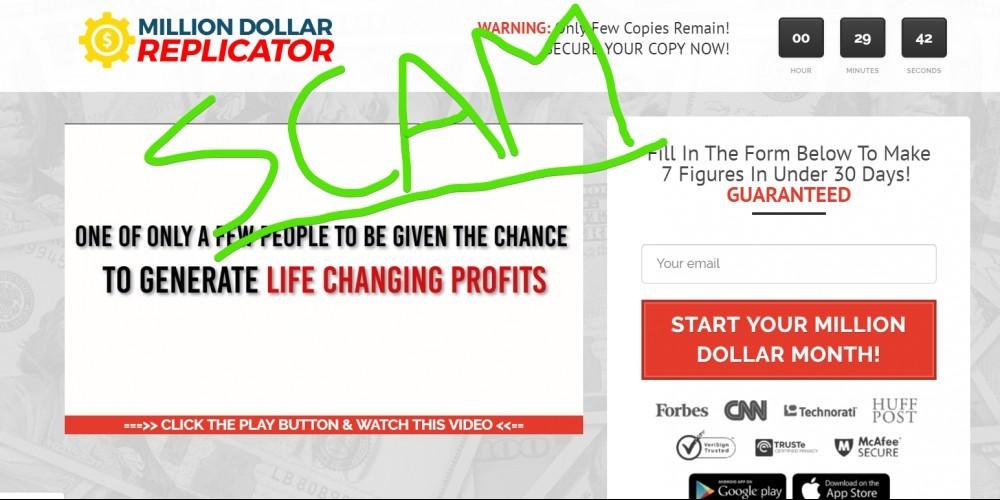 Million Dollar Replicator scam