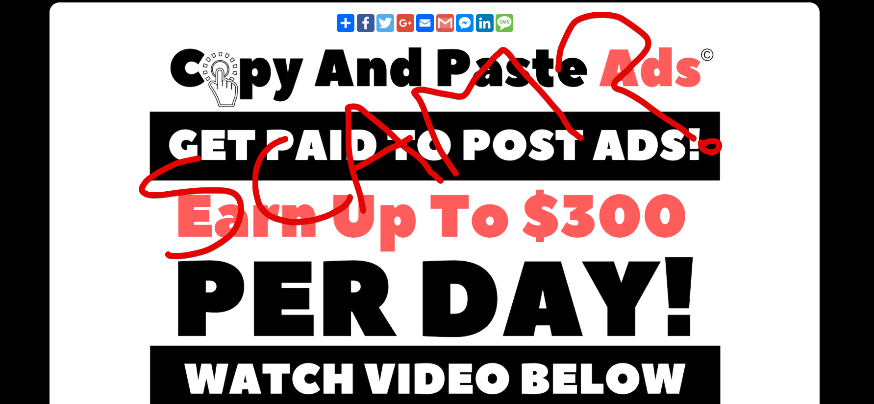Copy And Paste Ads Website