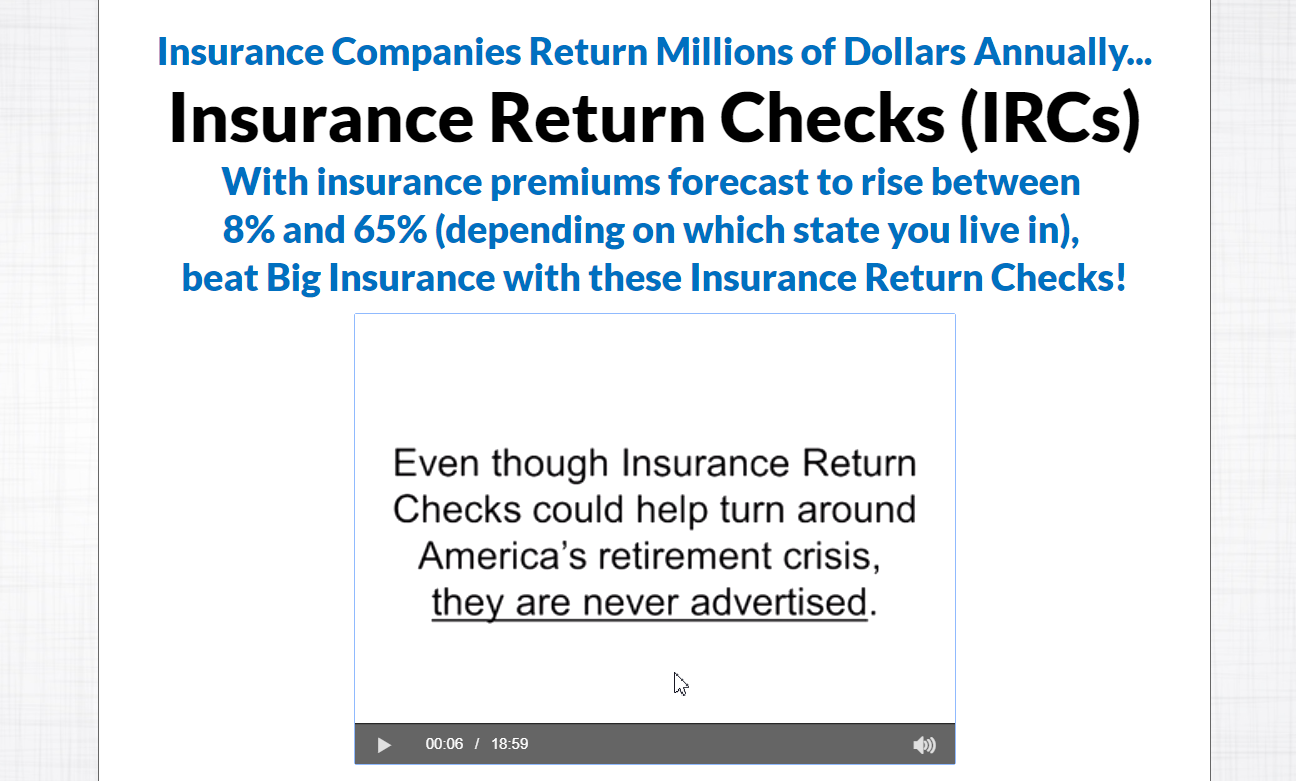 Insurance Return Checks video