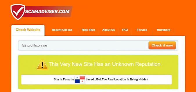Scam check for fastprofits.online