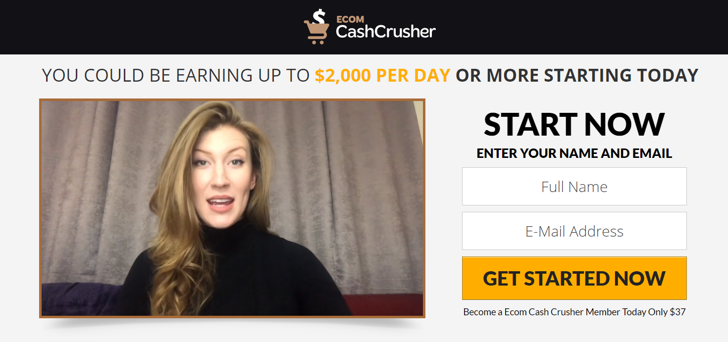 Ecom Cash Crusher testimonial