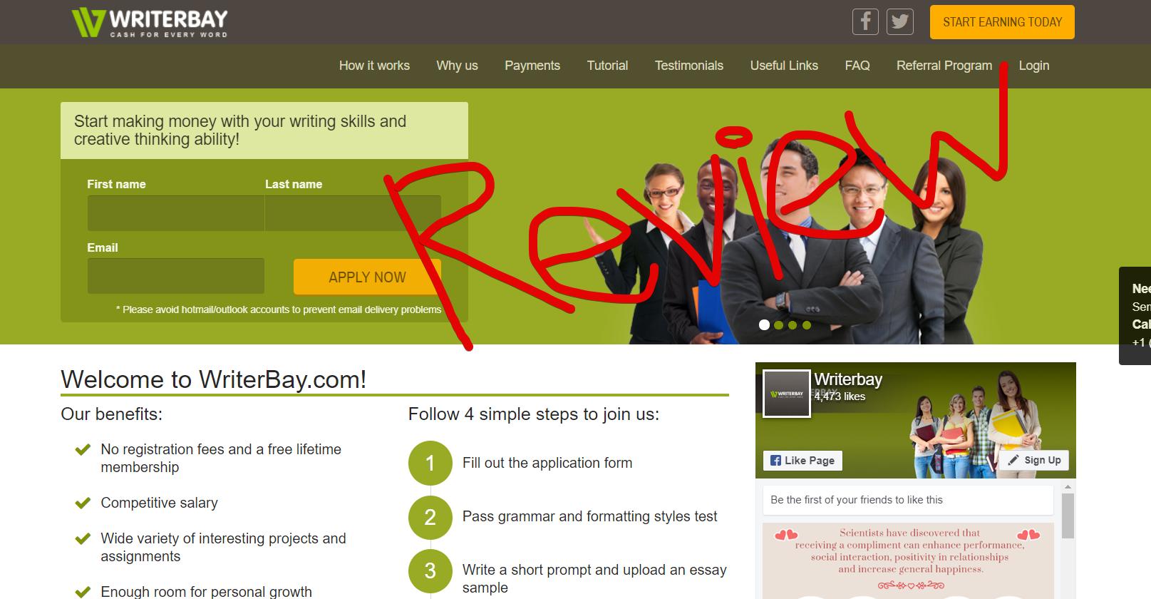 WriterBay Website