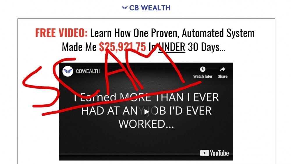 CB Wealth scam