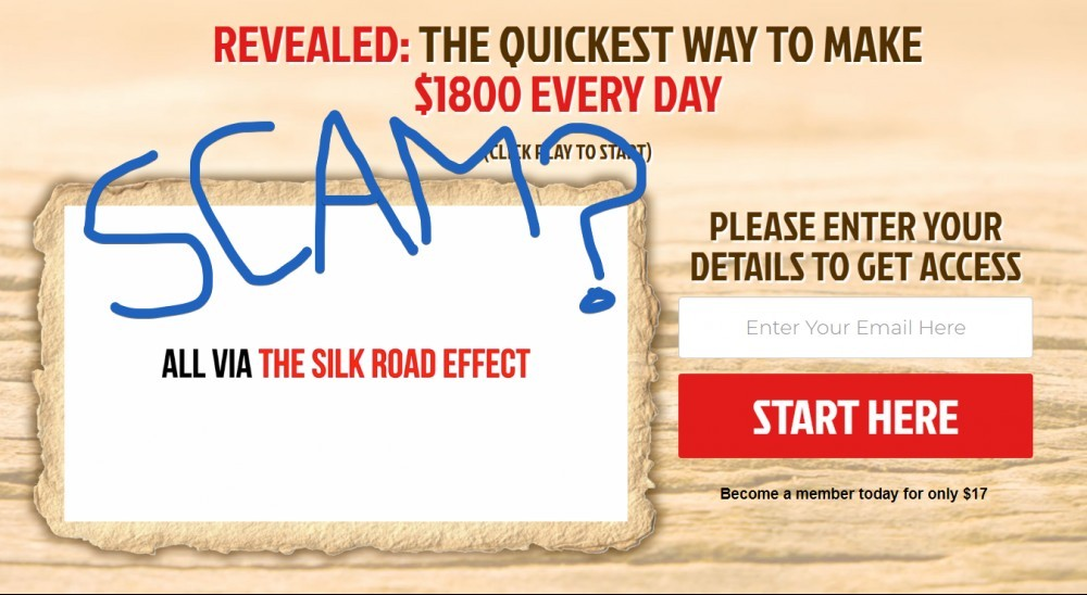The Silk Road Effect Scam
