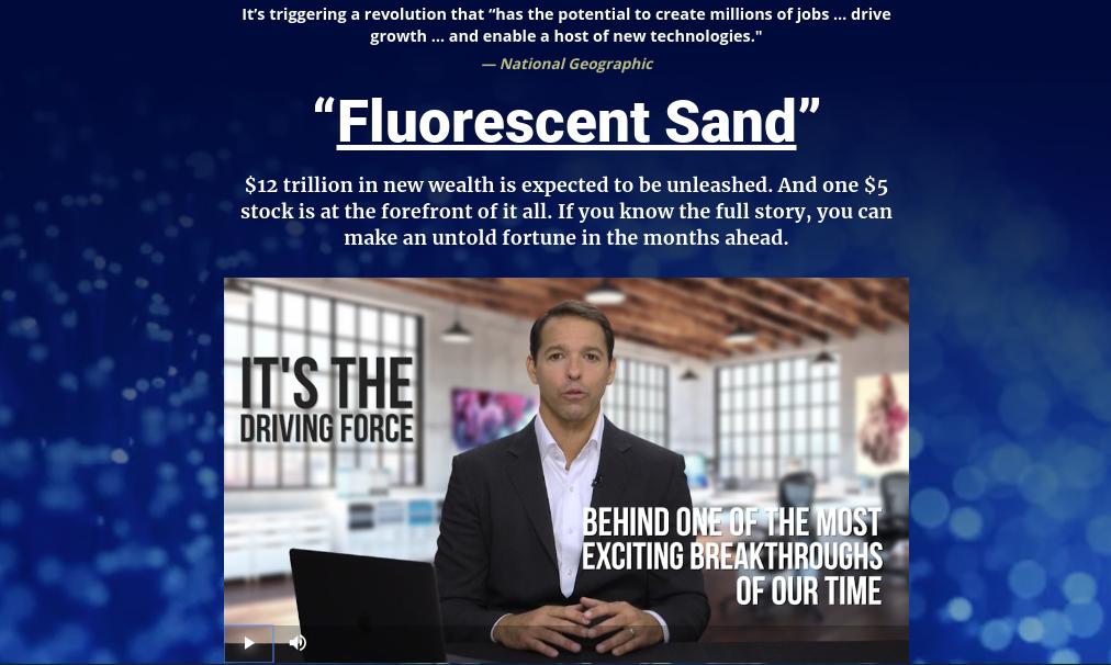 Fluorescent Sand Scam