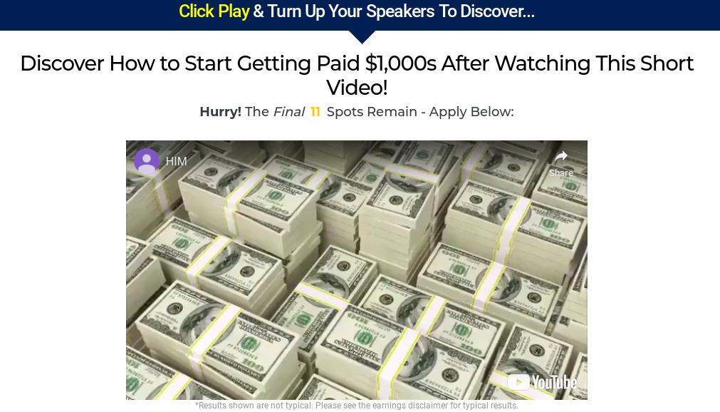 Home Income Millionaire scam